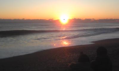 日の出の瞬間+1分後