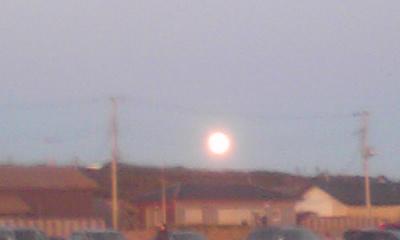 きれいな満月、とっても大きい~